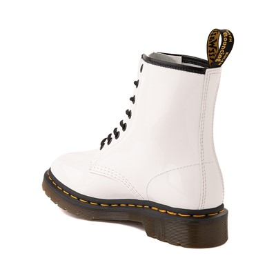 Alternate view of Womens Dr. Martens 1460 8-Eye Patent Boot - White