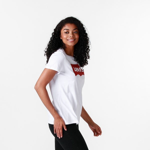 alternate image alternate view Womens Levi's Logo Tee - WhiteALT3