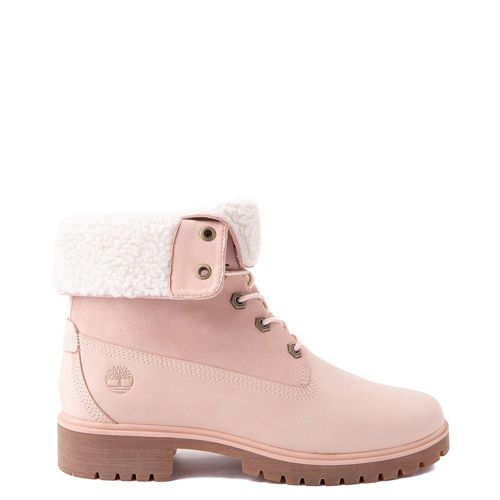 Womens Timberland Jayne Fleece Boot - Light Pink
