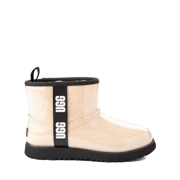 UGG® Classic Clear Mini II Boot - Toddler / Little Kid / Big Kid - Natural / Black