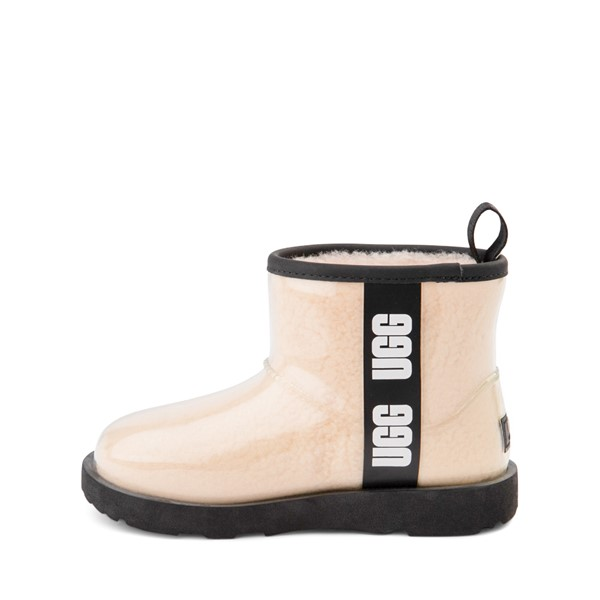 alternate image alternate view UGG® Classic Clear Mini II Boot - Toddler / Little Kid / Big Kid - Natural / BlackALT1
