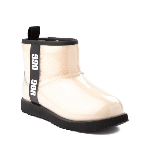 alternate image alternate view UGG® Classic Clear Mini II Boot - Toddler / Little Kid / Big Kid - Natural / BlackALT5