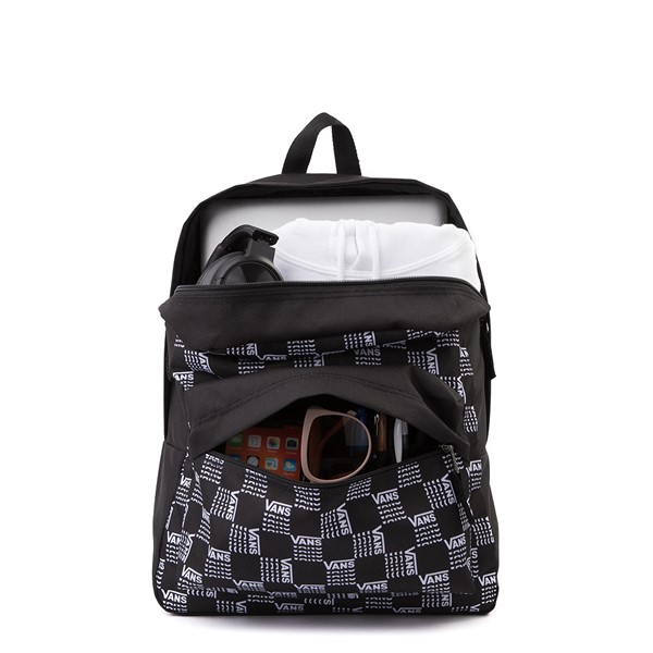 alternate image alternate view Vans Old Skool Word Checkerboard Backpack - Black / WhiteALT1