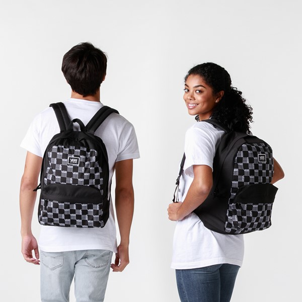 alternate image alternate view Vans Old Skool Word Checkerboard Backpack - Black / WhiteALT1BADULT