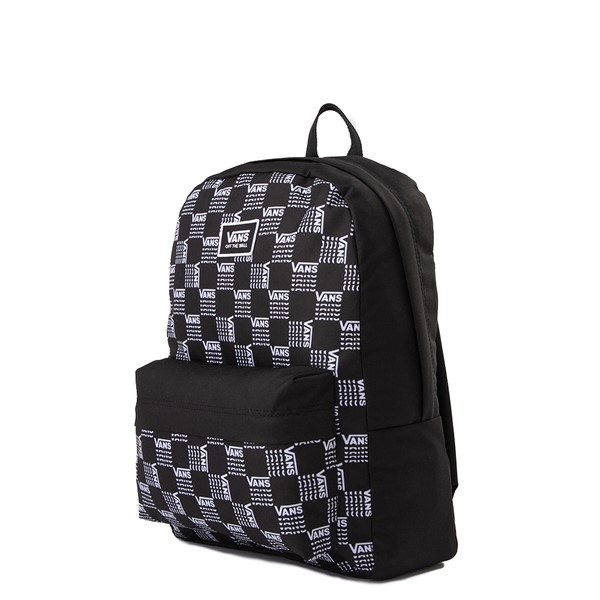 alternate image alternate view Vans Old Skool Word Checkerboard Backpack - Black / WhiteALT4