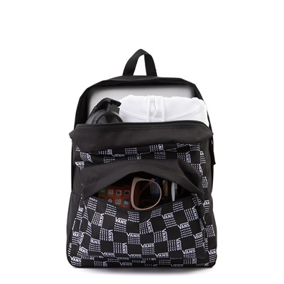 Alternate view of Vans Old Skool Word Checkerboard Backpack - Black / White