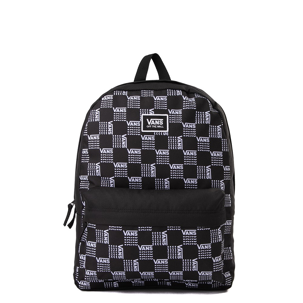 Vans Old Skool Word Checkerboard Backpack - Black / White