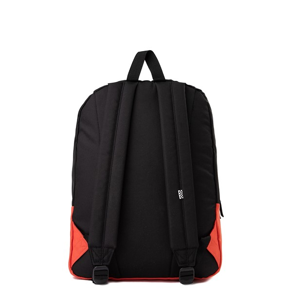 alternate image alternate view Vans Color-Block Checkerboard Realm Backpack - Paprika / Black / WhiteALT2