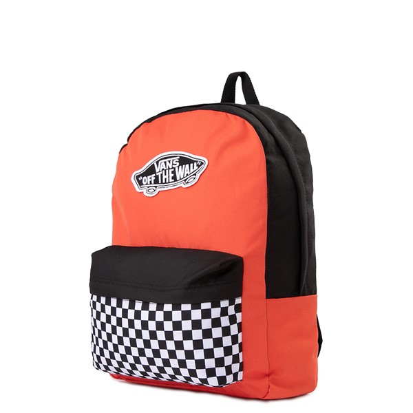 alternate image alternate view Vans Color-Block Checkerboard Realm Backpack - Paprika / Black / WhiteALT4