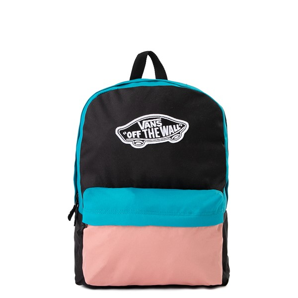 Main view of Vans Color-Block Realm Backpack - Black / Blue / Pink