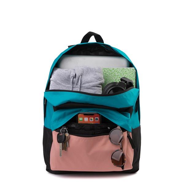 alternate image alternate view Vans Color-Block Realm Backpack - Black / Blue / PinkALT1
