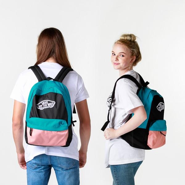 alternate image alternate view Vans Color-Block Realm Backpack - Black / Blue / PinkALT1BADULT
