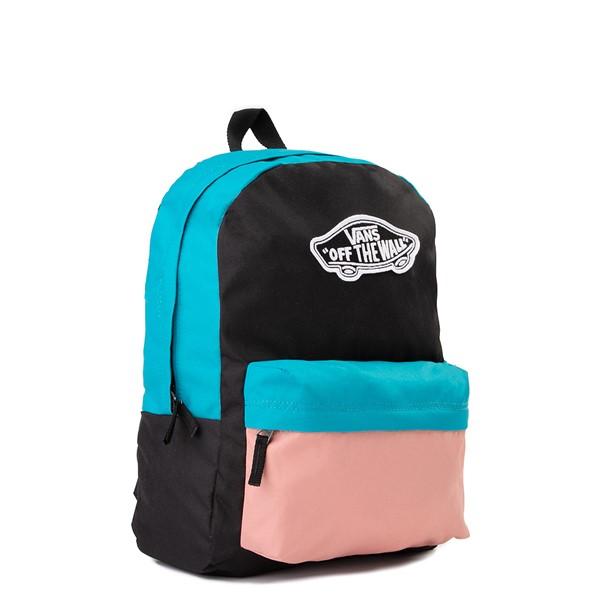 alternate image alternate view Vans Color-Block Realm Backpack - Black / Blue / PinkALT4B