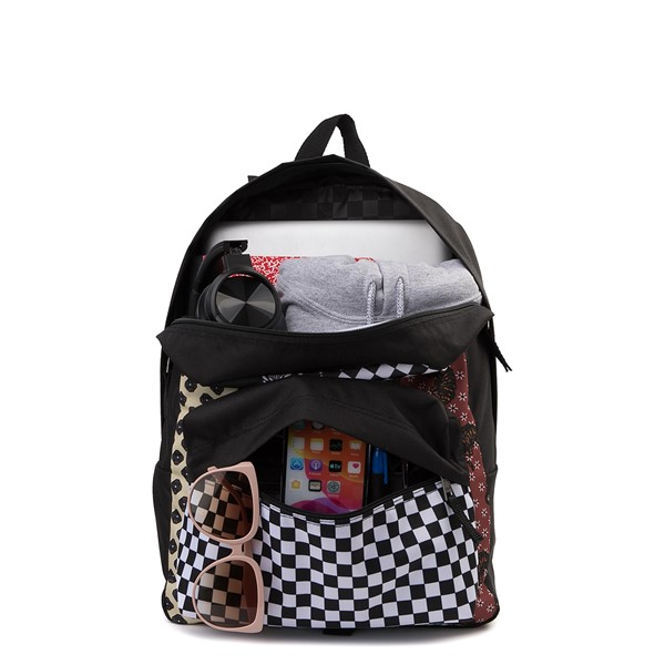 alternate image alternate view Vans Realm Backpack - Floral PatchworkALT1