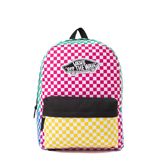 Main view of Vans Color-Block Checkerboard Realm Backpack - Multicolor