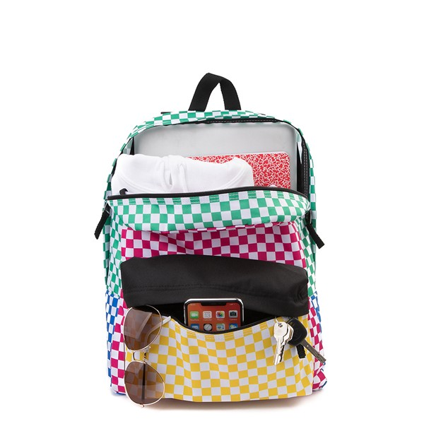 alternate image alternate view Vans Color-Block Checkerboard Realm Backpack - MulticolorALT1