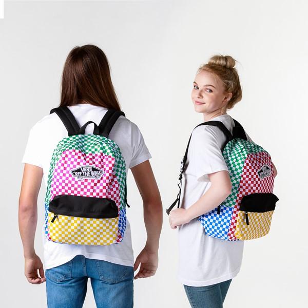alternate image alternate view Vans Color-Block Checkerboard Realm Backpack - MulticolorALT1BADULT