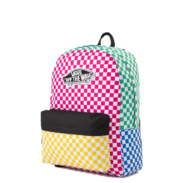 alternate image alternate view Vans Color-Block Checkerboard Realm Backpack - MulticolorALT4