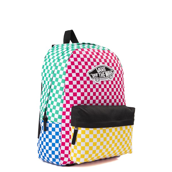 alternate image alternate view Vans Color-Block Checkerboard Realm Backpack - MulticolorALT4B