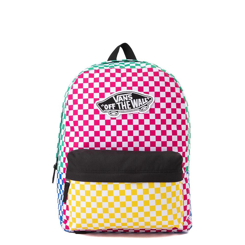 Vans Color-Block Checkerboard Realm Backpack - Multicolor