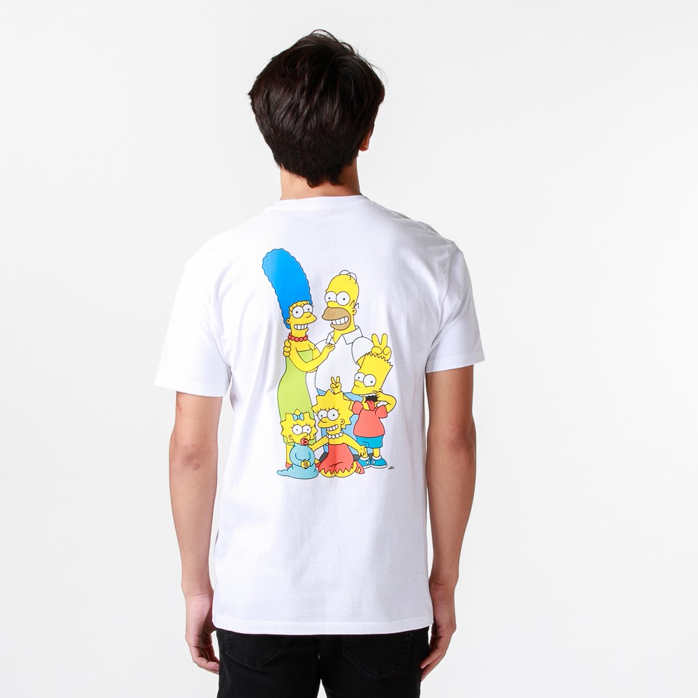 Mens Vans x The Simpsons Family Tee - White