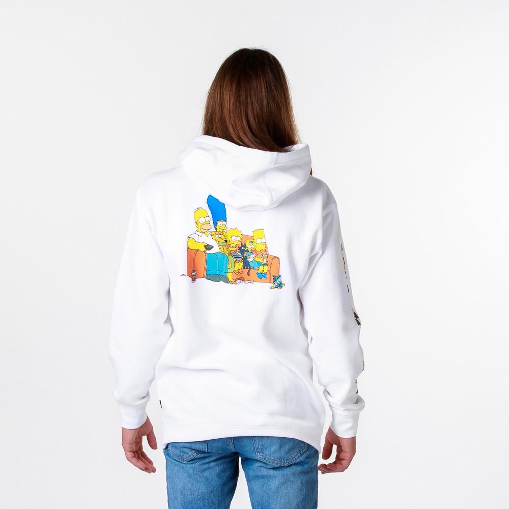 Mens Vans x The Simpsons Family Hoodie - White