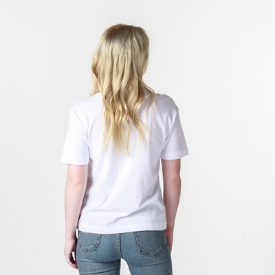 Alternate view of Womens Vans Boxed In Boxy Crew Tee - White