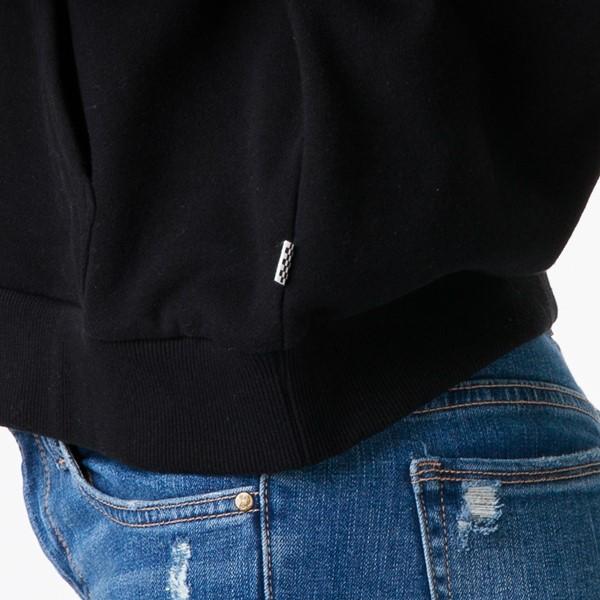 alternate image alternate view Womens Vans Word Check Cropped Hoodie - BlackALT2D