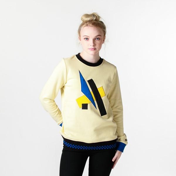 Main view of Womens Vans x MoMA Lyubov Popova Crew Sweatshirt - Yellow
