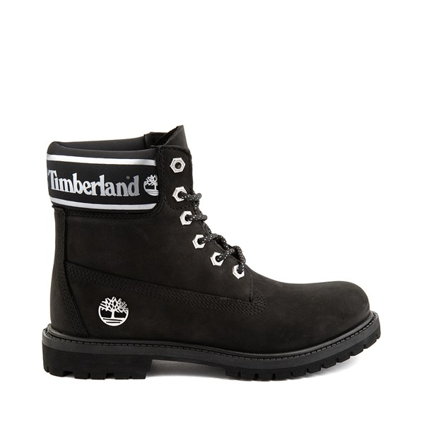 "Main view of Womens Timberland 6"" Premium Metallic Collar Boot - Black"