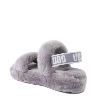 Alternate view of Womens UGG® Oh Yeah Slide Sandal - Grey