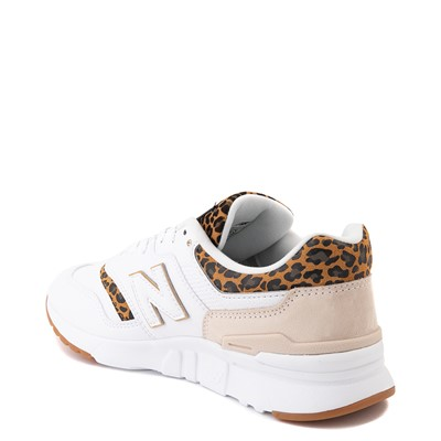 Alternate view of Womens New Balance 997H Athletic Shoe - White / Leopard