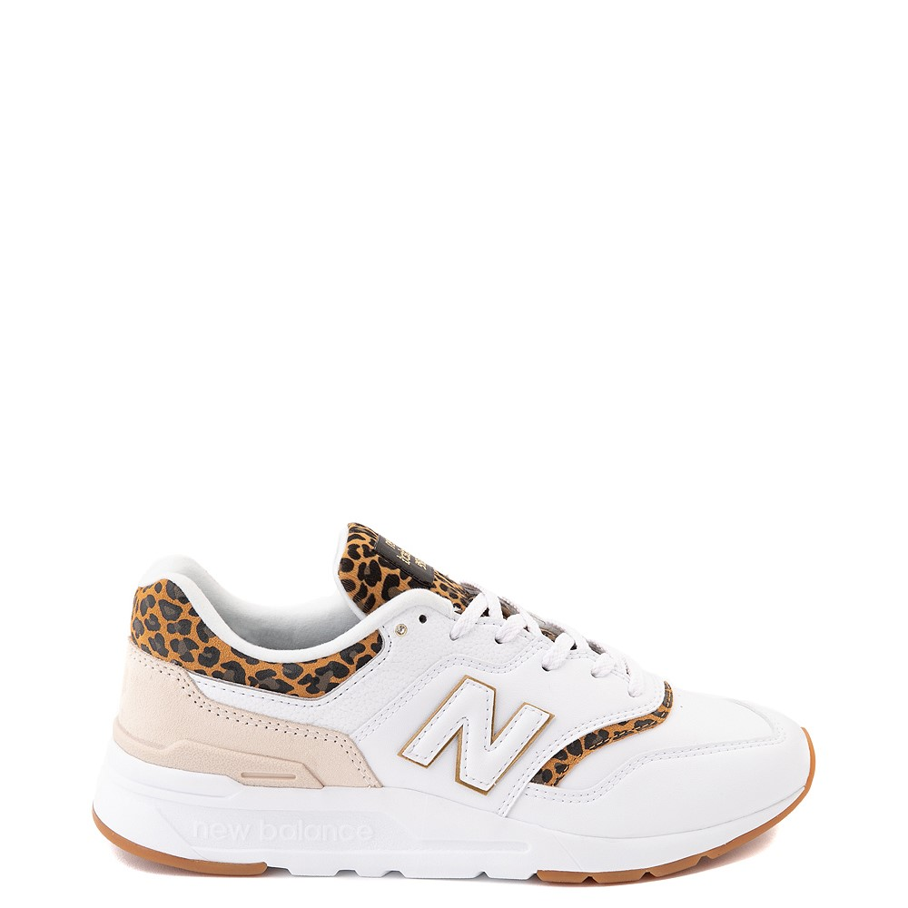 Womens New Balance 997H Athletic Shoe - White / Leopard