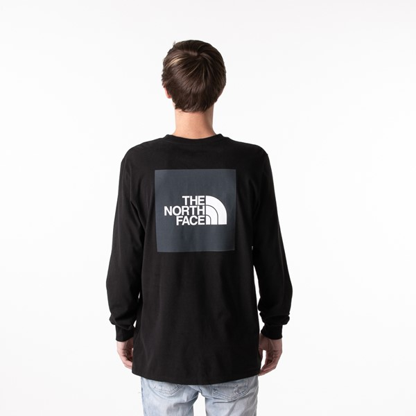 Main view of Mens The North Face Red Box Long Sleeve Tee - Black