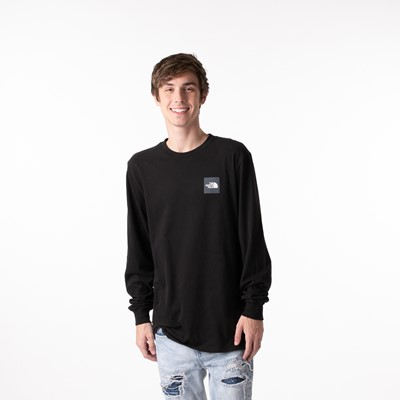 Alternate view of Mens The North Face Red Box Long Sleeve Tee - Black