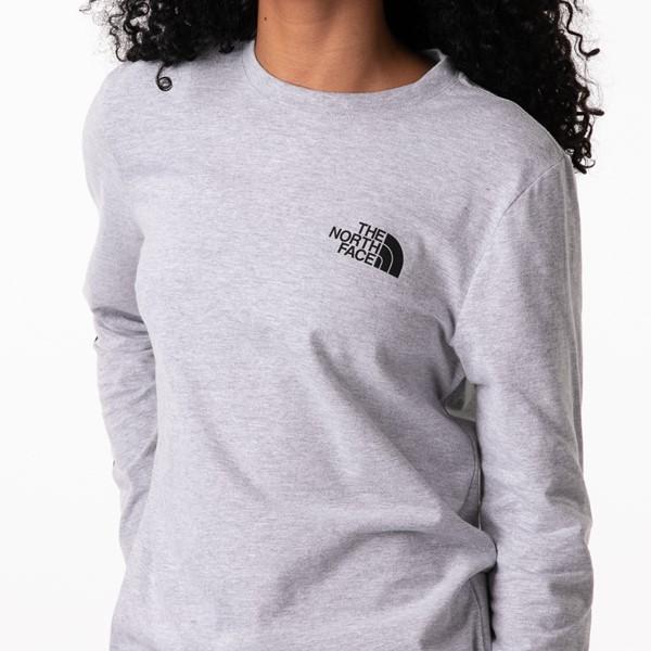alternate image alternate view Womens The North Face Brand Proud Long Sleeve Tee - GreyALT2