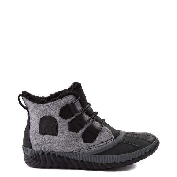 Womens Sorel Out N About™ Plus Felt Boot - Black / Grey