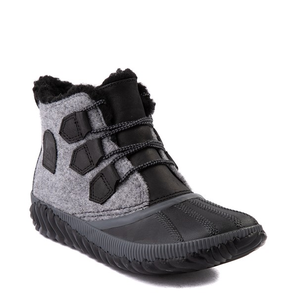 alternate image alternate view Womens Sorel Out N About™ Plus Felt Boot - Black / GreyALT1