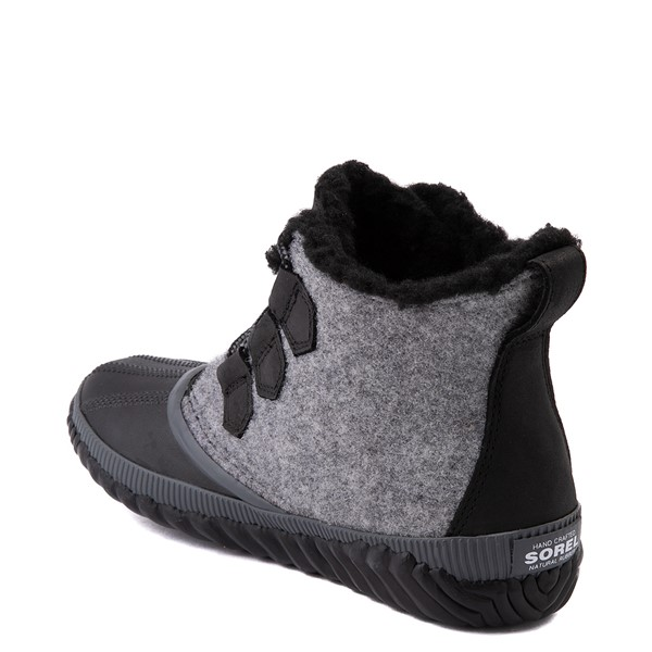 alternate image alternate view Womens Sorel Out N About™ Plus Felt Boot - Black / GreyALT2