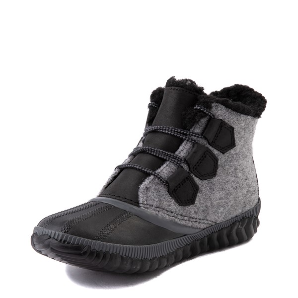 alternate image alternate view Womens Sorel Out N About™ Plus Felt Boot - Black / GreyALT3