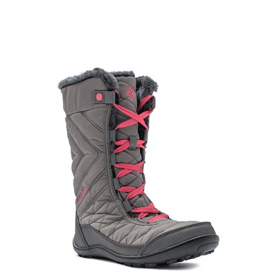 Alternate view of Columbia Minx™ Mid III Waterproof Omni-Heat™ Boot - Little Kid / Big Kid - Stratus / Camellia Rose