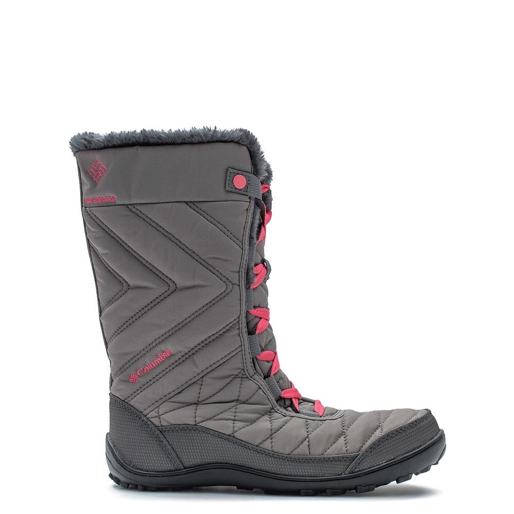 Columbia Minx™ Mid III Waterproof Omni-Heat™ Boot - Little Kid / Big Kid - Stratus / Camellia Rose