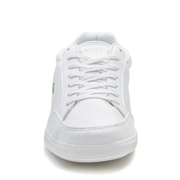 alternate image alternate view Womens Lacoste Graduate Athletic Shoe - White / Light PinkALT4