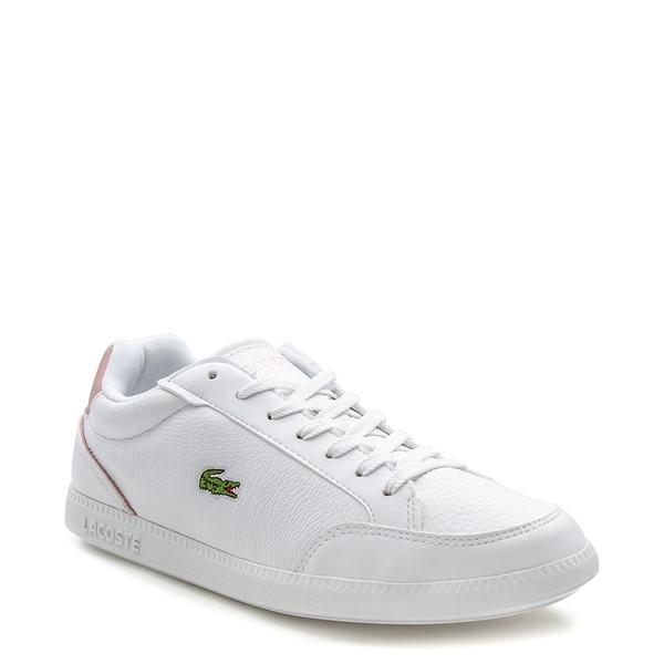 alternate image alternate view Womens Lacoste Graduate Athletic Shoe - White / Light PinkALT5