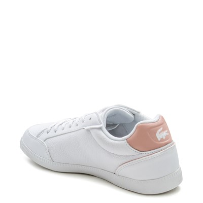 Alternate view of Womens Lacoste Graduate Athletic Shoe - White / Light Pink