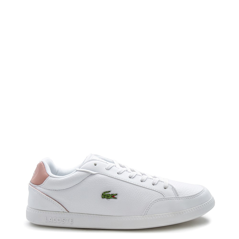Womens Lacoste Graduate Athletic Shoe - White / Light Pink