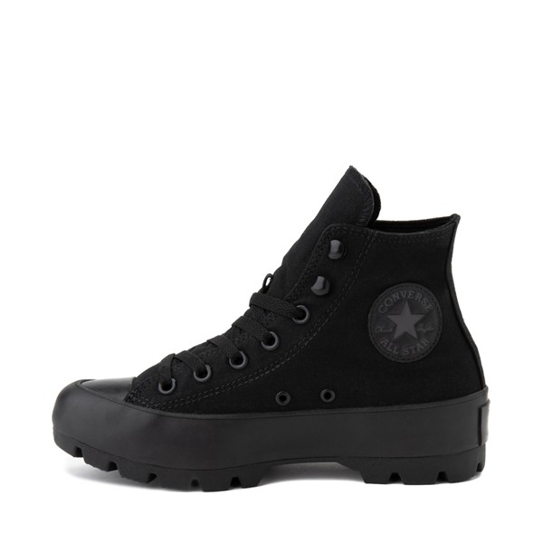 alternate image alternate view Womens Converse Chuck Taylor All Star Hi Lugged Sneaker - Black MonochromeALT1