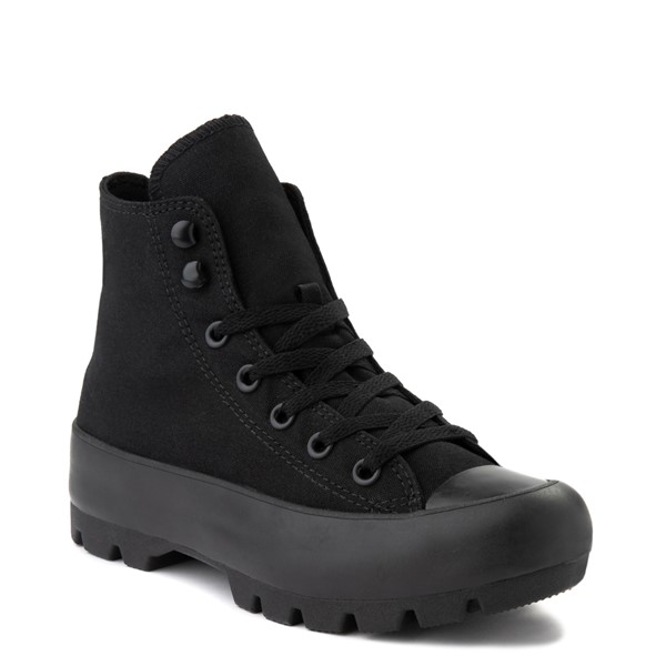 alternate image alternate view Womens Converse Chuck Taylor All Star Hi Lugged Sneaker - Black MonochromeALT1B