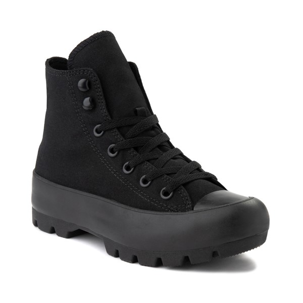 alternate image alternate view Womens Converse Chuck Taylor All Star Hi Lugged Sneaker - Black MonochromeALT5