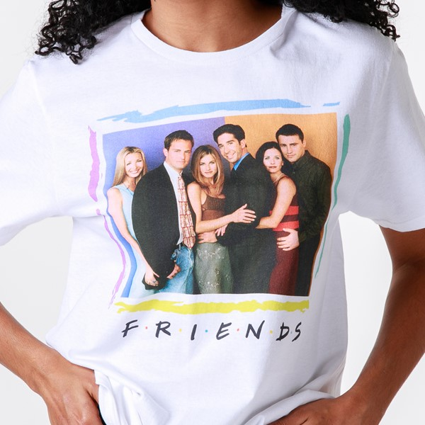 alternate image alternate view Womens Friends Group Shot Boyfriend Tee - WhiteALT2